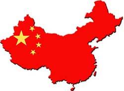 China-Flag-Map